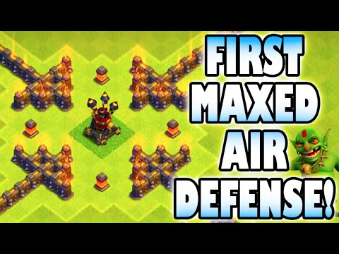 "Clash of Clans - FIRST AIR DEFENSE DONE! ""MAXING OUT AIR DEFENSES!"" Farming Up the Millions!"