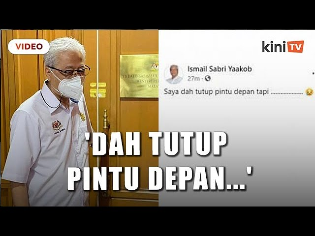 Ismail Sabri Saya Dah Tutup Pintu Depan Tapi Youtube