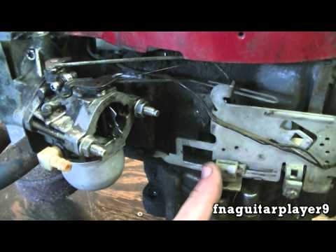 How Throttle and Choke Linkage is Setup on a Briggs 2 piece Carburetor (NEW ENGINE)