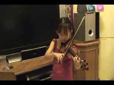 Natalia plays Witches' Dance by Paganini Suzuki violin Book2