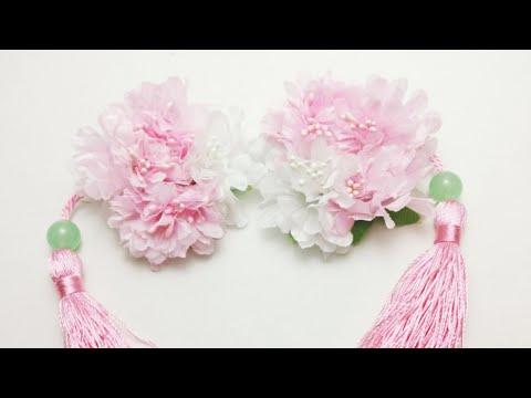 DIY Tutorial - Chinese Hair Accessories Flowers Garden Hair Clips Hair Stick Hair Pins