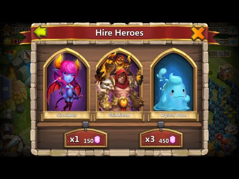 Rolling 70000 Gems For GrimFiend PLUS Talents Castle Clash