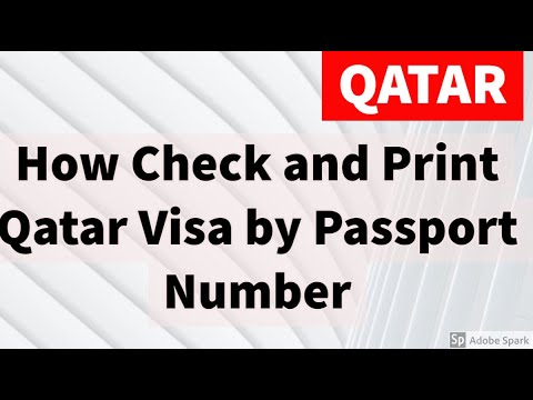 How Check and Print Qatar Visa by Passport Number