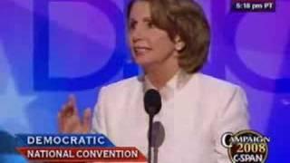 Rep. Nancy Pelosi's (D-CA) DNC Speech