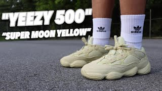 """917638ee496ee8 Yeezy 500 Super Moon Yellow """"Review"""" Plus """"On Feet"""" Watch before you"""