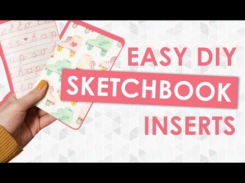 DIY Sketchbook Inserts For My Travelers Journal!! Watercolor AND Kraft Paper | How To For Beginners