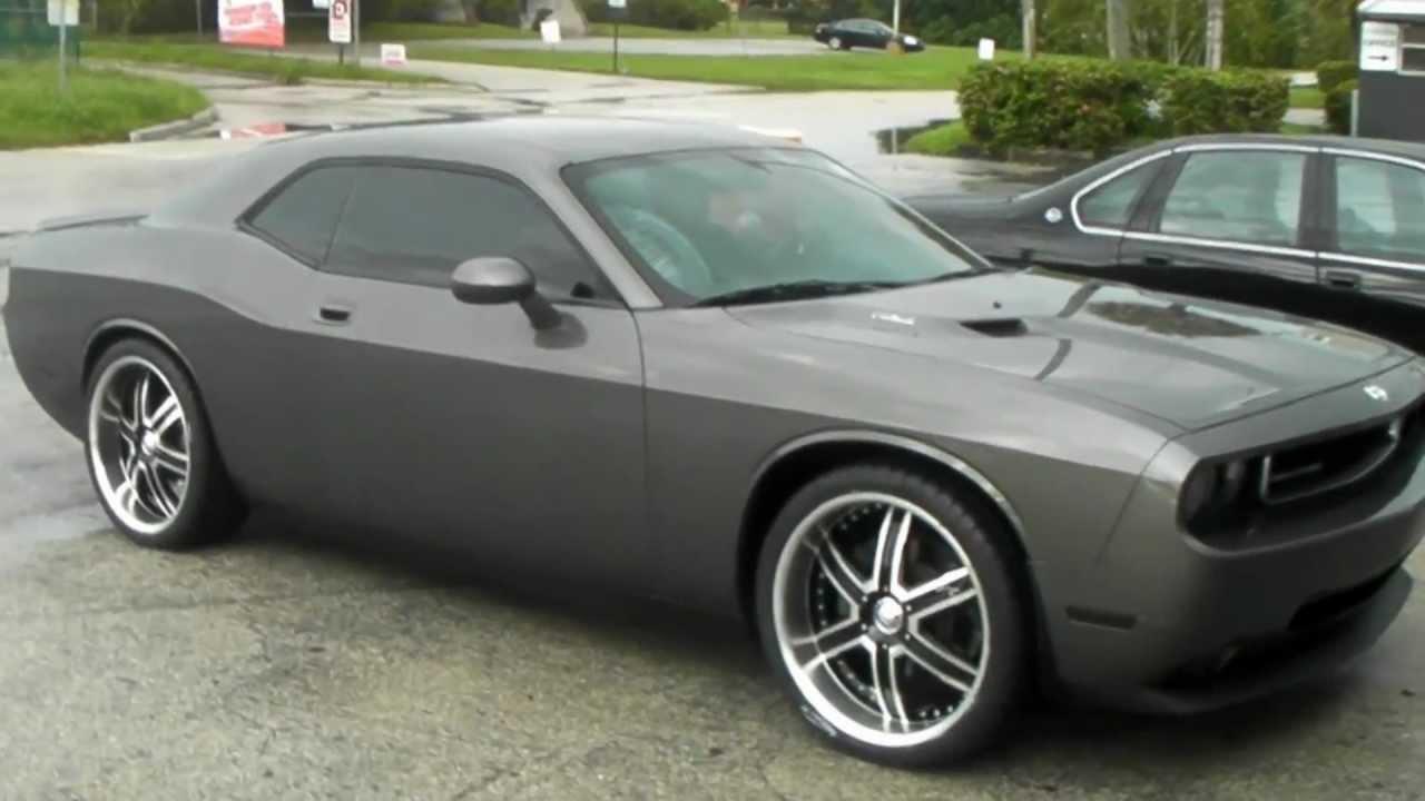 Dodge Challenger 24 Inch Rims >> DUBSandTIRES.com 2009 Dodge Challenger Review 22'' Black Machined DIP Heat Wheels Asanti ...