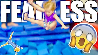 FEARLESS TODDLER FOAMPIT GYMNASTICS!