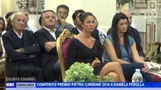 CANNALONGA PREMIO CARBONE CONFERITO A DANIELA FEROLLA