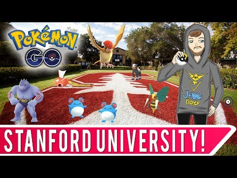Destination Pokemon GO at Stanford University in Palo Alto, California!