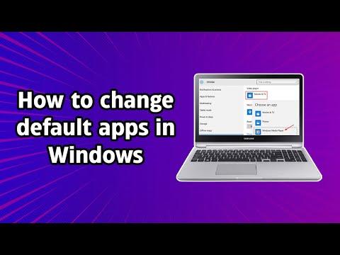 How to change default apps in Windows 10