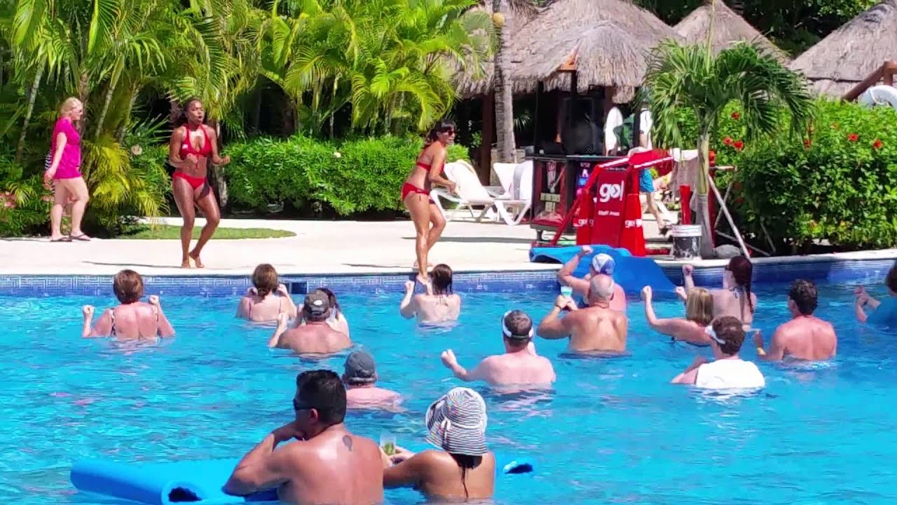 Pool Workout At Valentin Imperial Maya   YouTube