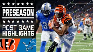 Bengals vs. Lions | Game Highlights | NFL