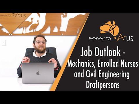 Job Outlook - Mechanics, Enrolled Nurses And Civil Engineering Draft Persons