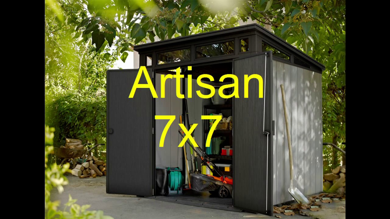 Keter Artisan 77 7x7 כתר פלסטיק מחסן ארטיזן how to build ...