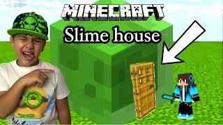 Minecraft Έφτιαξα SLIME HOUSE Αηδιαστικό σπίτι/Famous Games-Famous Toli