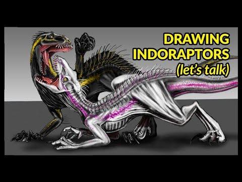 Indoraptor Dinosaur Drawing Tvaction Info