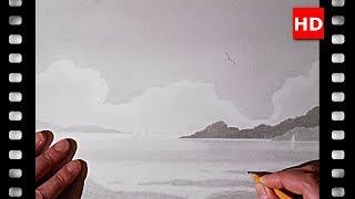 Découvrez comment dessiner un petit paysage sur la mer grâce à ce tutoriel (# 20).
