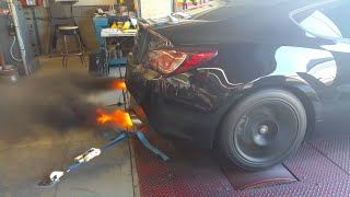 little backfire action during socal tuning event