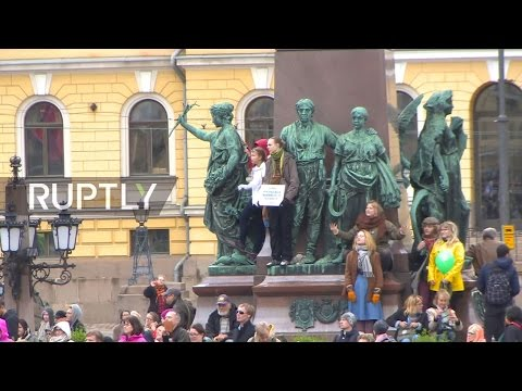 LIVE: Thousands protest far-right group in Helsinki after re