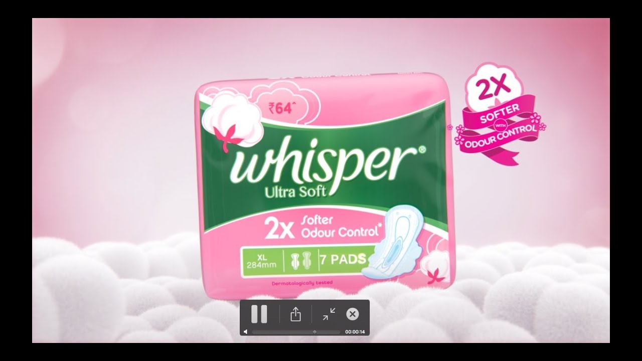 Whisper Ultra Soft - 2x softer with odour control - YouTube