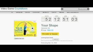 Your Shape featuring Jenny McCarthy Wii Countdown to Release
