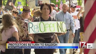 Protesters Against Nc Stay-at-home Order Met By Health Care Professionals