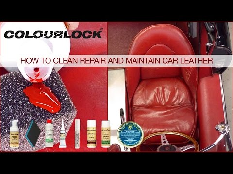 How to clean repair and maintain car leather