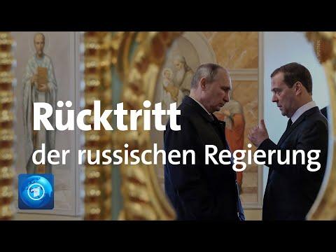 Russische Regierung zurückgetreten