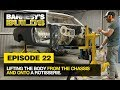 Episode 22   Removing The Body From The Chassis And Onto The Rotisserie