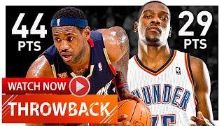 LeBron James vs Kevin Durant Full Highlights (2009.12.13) Cavs vs Thunder - CRAZY MVP Duel!