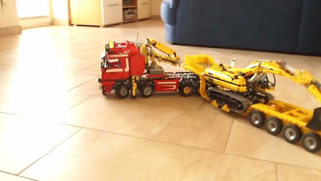 Lego 8258 RC mit Baggerbett Tieflader