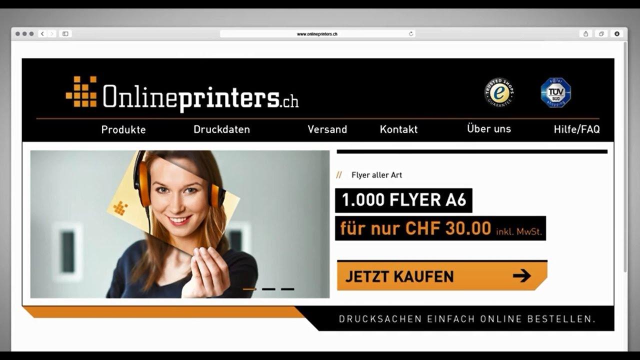 Sprecher für Werbung von Onlineprinters