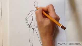 Myfashionschool - учимся рисовать модные позы # 2