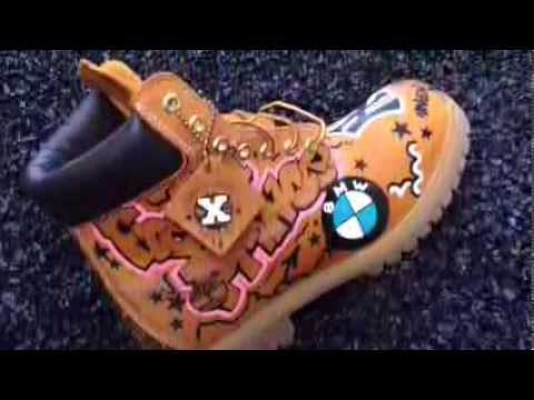 custom timberlands timbs by tyko moon youtube