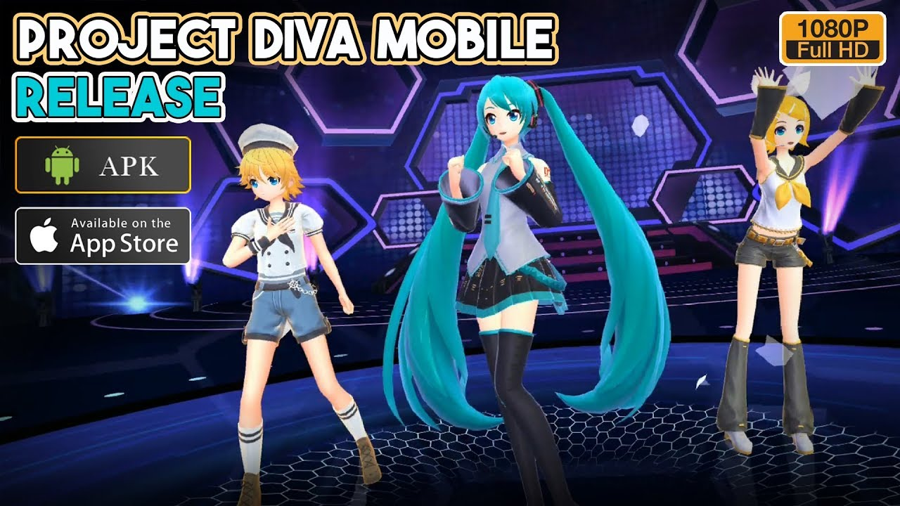 Hatsune Miku Project DIVA Mobile Dreamy Vocal Gameplay Android / iOS Release