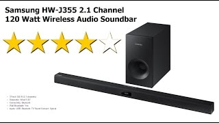 Samsung HW-J355 Soundbar and Subwoofer Unboxing and Review
