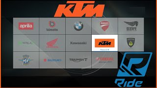 RIDE : KTM MOTOS - KTM ALL BIKES - KTM MOTO STORE - KTM MOTO SHOW