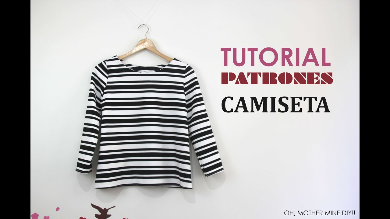 DIY Camiseta Básica (tutorial y patron gratis) - YouTube