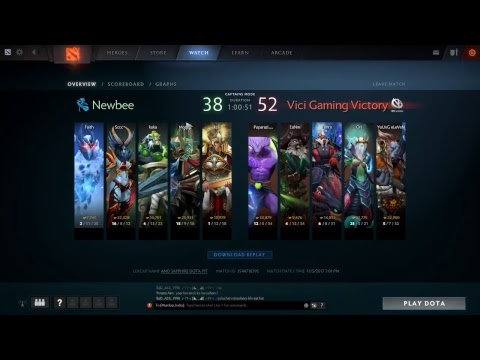 newbee vs vici gaming dota 2 live match youtube