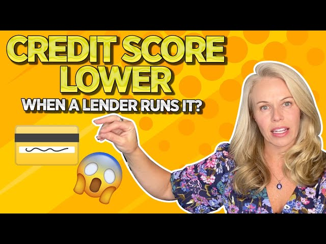 Why Is Your Credit Score Lower When a Mortgage Lender Runs Your Credit? Running Credit Scores 2020 💳