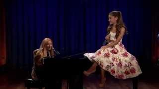 jimmy fallon ariana grande sing broadway versions of rap songs late night with jimmy fallon