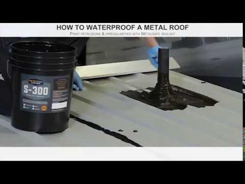 how-to-waterproof-a-metal-roof-|-liquid-rubber