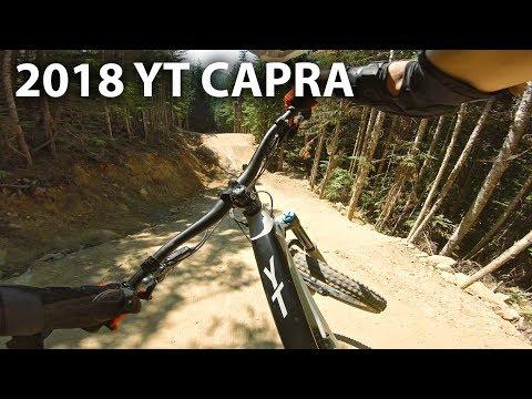 GETTING ROWDY Demo Riding a 2018 YT Capra CF - Whistler Bike Park   Jordan Boostmaster