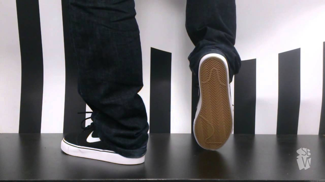 Nike sb STEFAN JANOSKI canvas black white gum brown metalic gold 615957 028  - YouTube