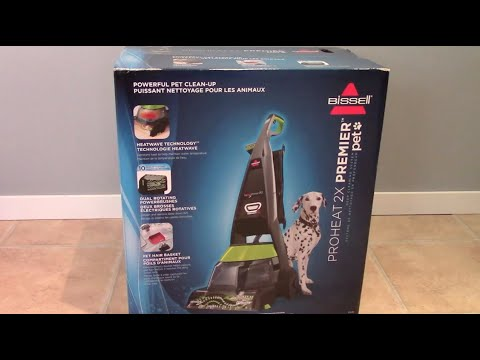 unboxing and review of the bissell preheat 2x premier pet carpet cleaner
