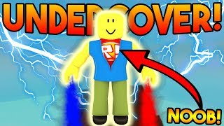 UNDERCOVER NOOB TROLLING! | ROBLOX: Super Power Training Simulator