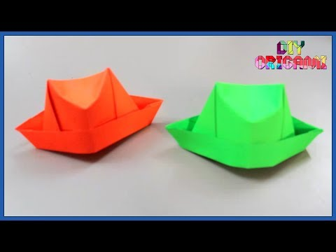 How To Make An Origami Paper Hat - DIY Paper Hat