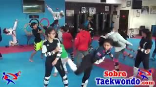 Entrenamiento técnico de Taekwondo entre Miami y Chile