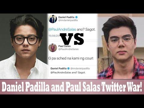 Daniel Padilla at Paul Salas: NAGKASAGUTAN SA TWITTER!